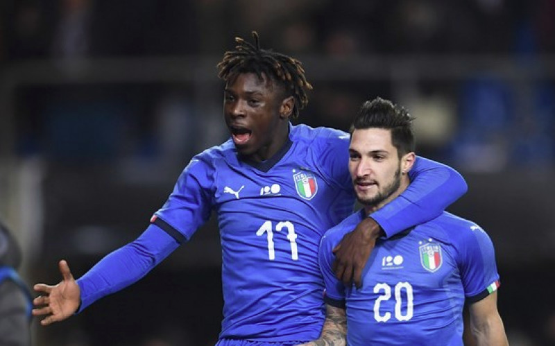 Un gol di Matteo Politano regala la vittoria all'Italia che chiude in bellezza il 2018
