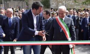 Salvini ha inaugurato il commissariato di Corleone