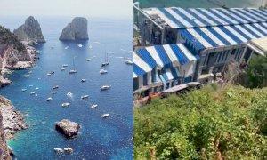 Minibus precipita a Capri, muore l'autista: ci sono feriti gravi