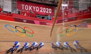 Tokyo 2020, ciclismo su pista: oro all'Italia e record del mondo