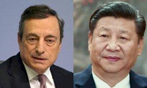 Draghi e il colloquio con Xi Jinping: molti i temi caldi sul piatto